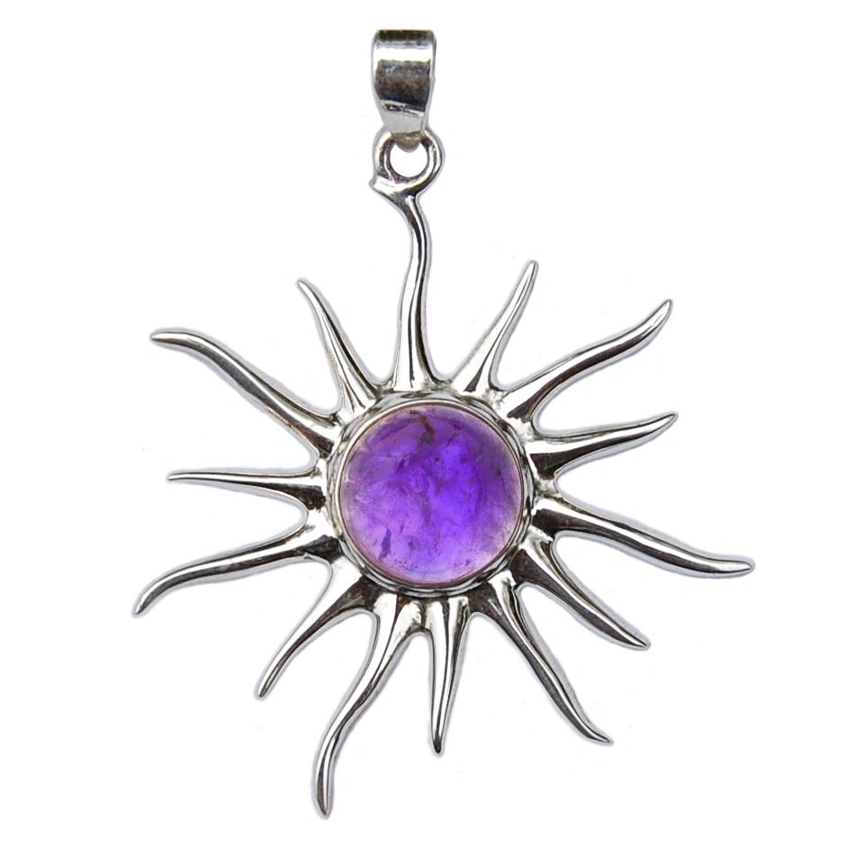 Prívesok slnko ametyst - Auvita fdd273f4943