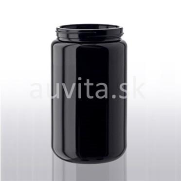 Fľaša širokohrdlá z fialového skla