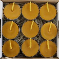Čajová sviečka z včelieho vosku
