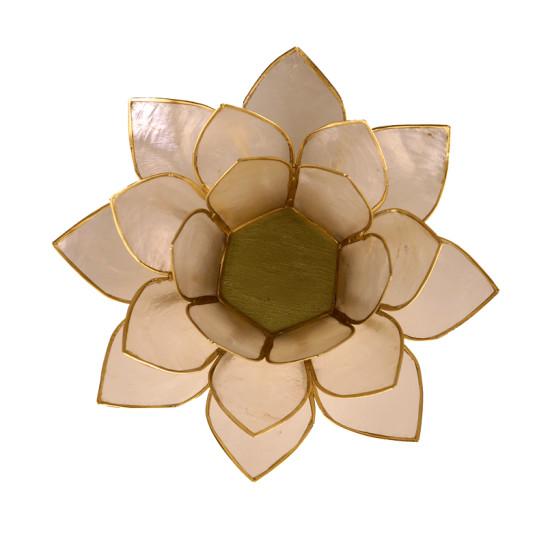 čajový svietnik lotos stredne veľký, pohľad zhora