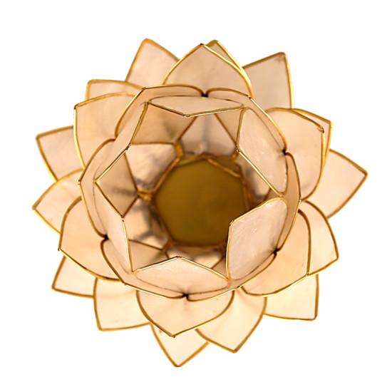 čajový svietnik lotos veľký, pohľad zhora