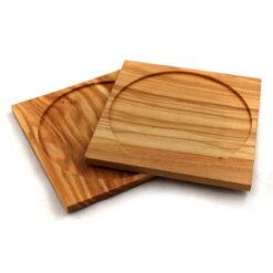 podložky pod pohár z olivového dreva
