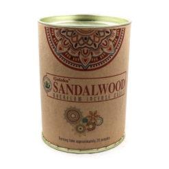 krabica kužeľov tečúci dym santalové drevo
