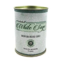 krabička kužeľov tečúci dym goloka biela šalvia