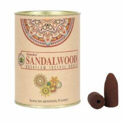 Vonné kužele Tečúci dym Goloka - Santalové drevo