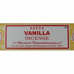 vonné tyčinky vanilka pohľad zhora