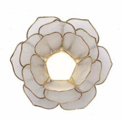 čajový svietnik lotos stredne veľký otvorený zhora