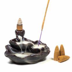 Stojan na kužele Tečúci dym - Tri lotosy
