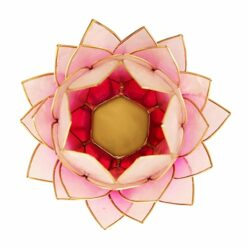 čajový svietnik lotos veľký ružový